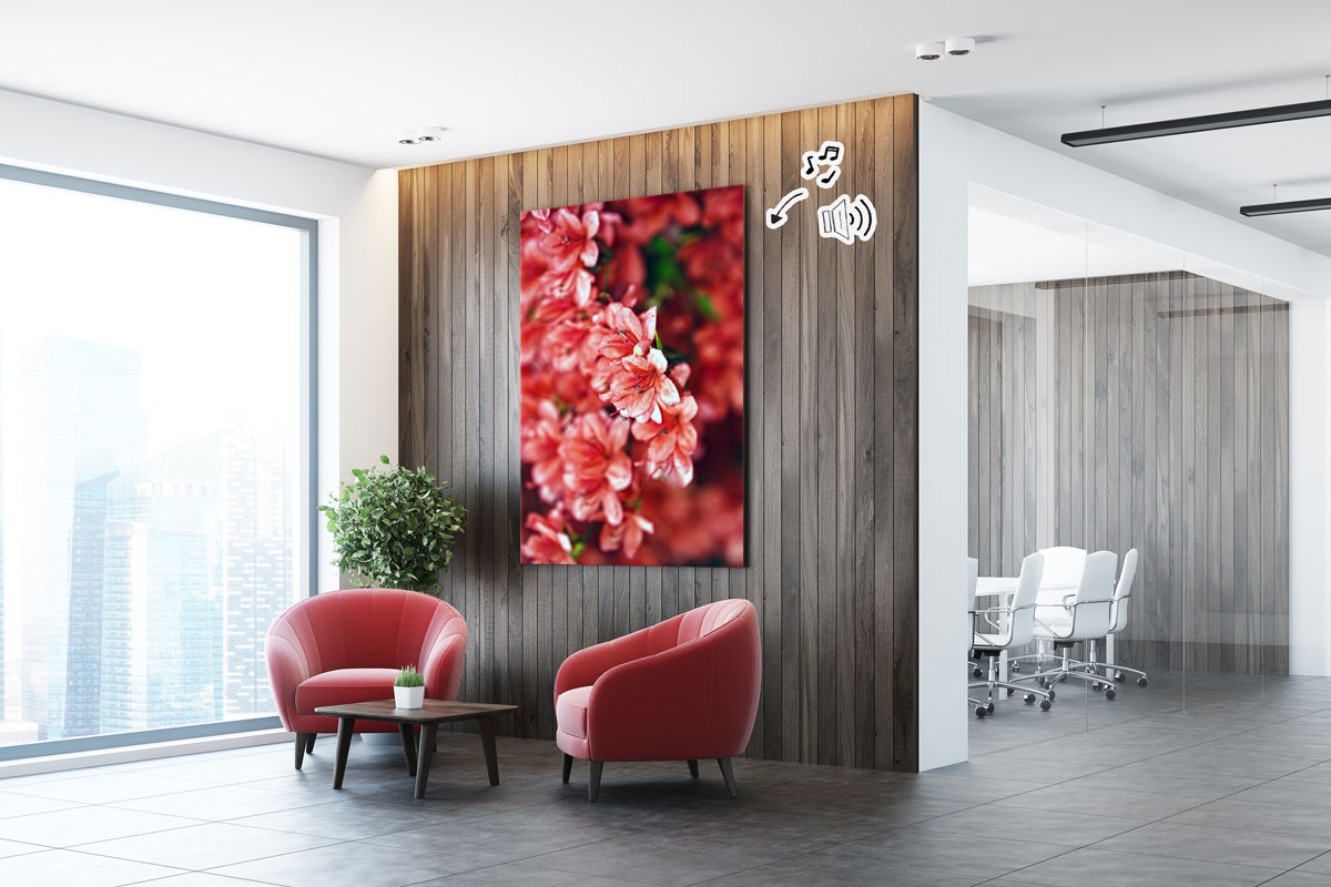 The Soundwall is a canvas and a wireless speaker combined into one for the modern melophile - Convincing Swiss quality.